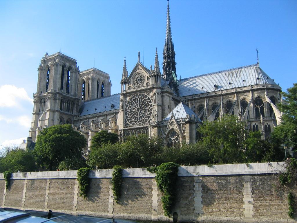 Notre Dame Rose Window Seine
